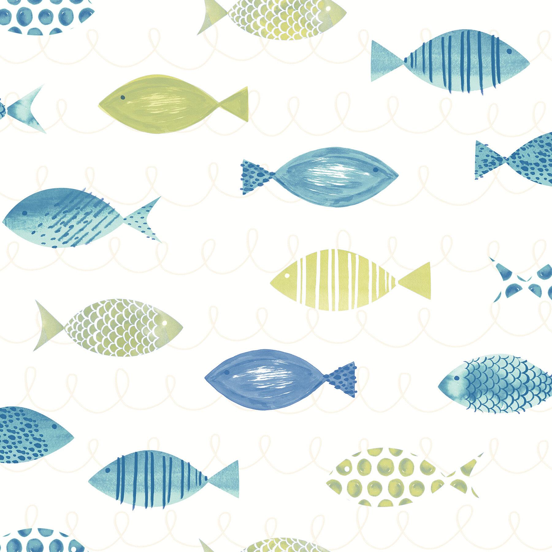 Highland Dunes Downend 33 X 20 5 Fish Wallpaper Roll Reviews Wayfair