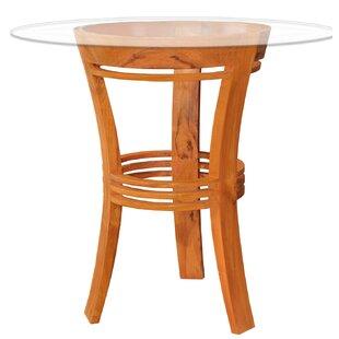 Half Moon Solid Wood Bar Table by Chic Teak