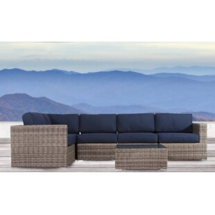 Lue 6 Piece Sectional Seating Group with Sunbrella Cushions