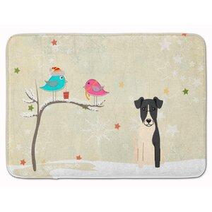 Christmas Presents Smooth Fox Terrier Memory Foam Bath Rug