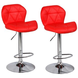 Cierra Adjustable Height Swivel Bar Stool..