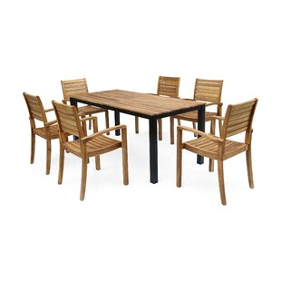 Bay Isle Home Lincolnwood 7 Piece Teak Dining Set