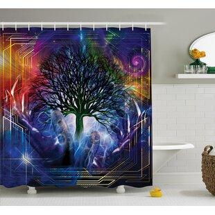 Nature Leafless Tree Hippie Shower Curtain