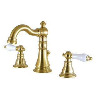Kingston Brass American Patriot Widespread Bathroom Faucet with Drain Assembly