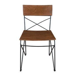 Oak  Black/Brown Solid Wood Dining Chair ..