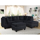 Wyeth 104 Right Hand Facing Sectional with Ottoman by Latitude Run®