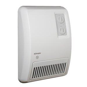 3,413 BTU Wall Insert Electric Fan Heater