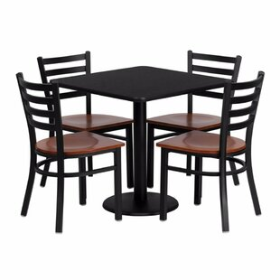 Quinones 5 Piece Dining Set Red Barrel Studio