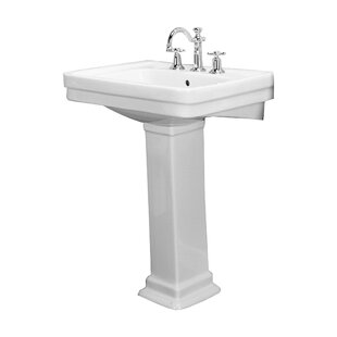Price Check Sussex 550 Vitreous China 22 Pedestal Bathroom Sink with Overflow By Barclay