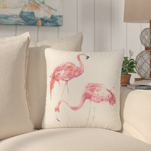 North Bay Flamingo Couple Throw Pillow