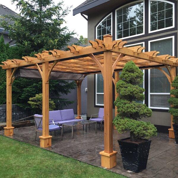 Outdoor Living Today Breeze 12 Ft W X 16 Ft D Solid Wood Pergola Wayfair