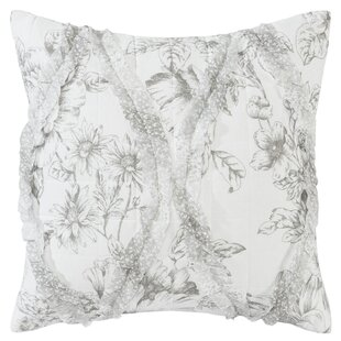 Lena Cotton Throw Pillow by Laura Ashley Home