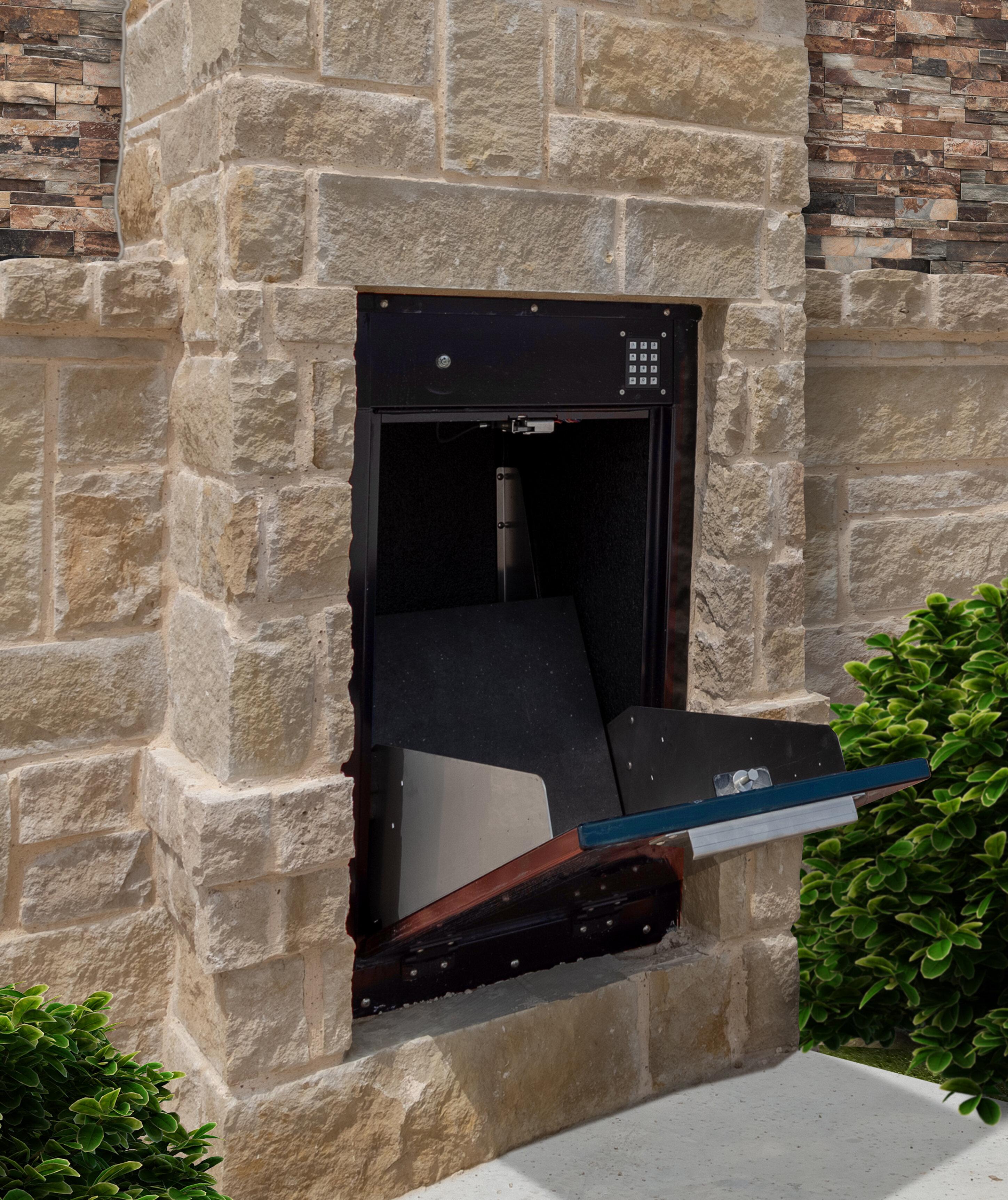 Mb Sentinel Dual Door Insert 24 In X 42 In Aluminum Package Drop Wayfair