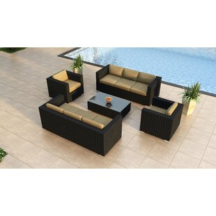 Azariah 5 Piece Double Sofa Set with Cushions