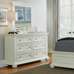 Krogman 6 Drawer Double Dresser with Mirror By Alcott Hill