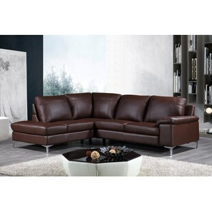 Cortesi Home Dallas Leather Sectional