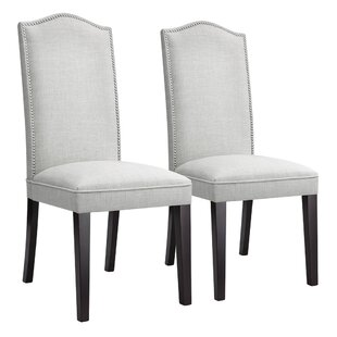 Bouie Modern High Back Upholstered Dining Chair Set of 2 by House of Hampton