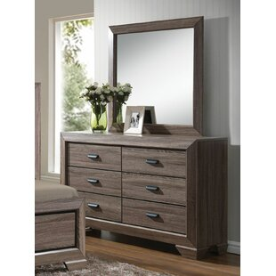 Gianna 6 Drawer Dresser with Mirror By Foundry Select