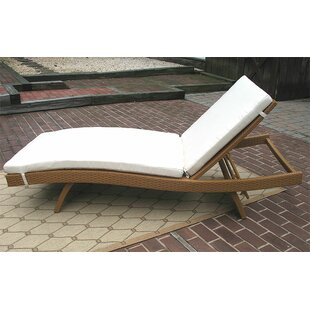 Wicker Warehouse Siesta Chaise Lounge with Cushion (Set of 2)