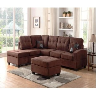 Hust Reversible Sectional with Ottoman