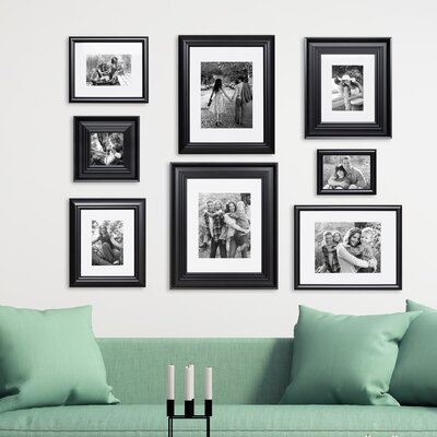 Three Posts 8 Piece Syston Gallery Picture Frame Set Colour: Black