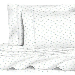 One Allium Way Quesinberry Chic Floral 400 Thread Count 100% Cotton Sheet Set