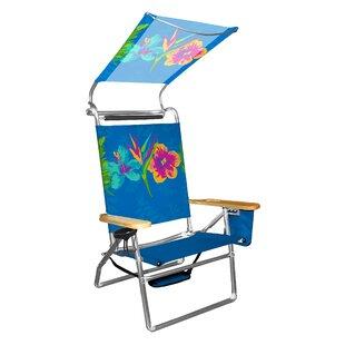 Presley Flowers Folding Beach Chair by Freeport Park