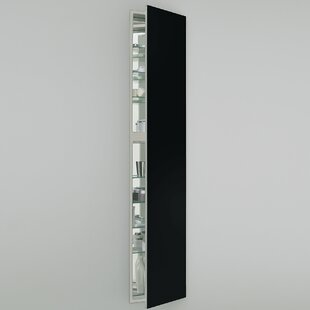 Find M Series 15 x 70 Recessed Frameless Medicine Cabinet with 3 Adjustable Shelves and Lighting By Robern
