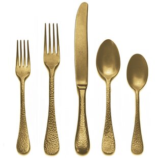 5 Piece 18/10 Stainless Steel Flatware Set, Service for 1