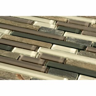 Glacier Mountain Random Sized Piano Natural Stone And Glass Mosaic Tile In  Slate