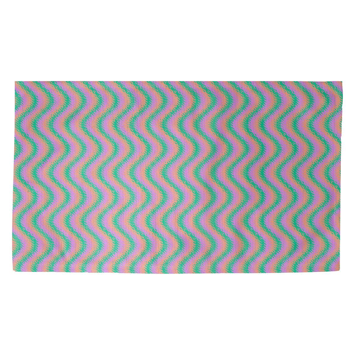 Latitude Run Avicia Wavy Stripe Green Purple Area Rug Wayfair