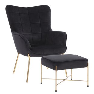 Online Reviews Martini Lounge Chair and Ottoman by Wrought Studio Reviews (2019) & Buyer's Guide