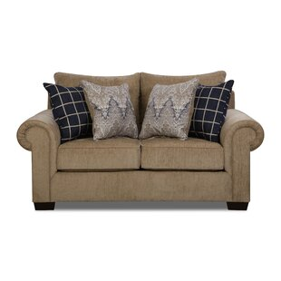 Alcott Hill Della Loveseat by Simmons Upholstery