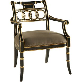 Rubbed Lacquer Upholstered Dining Chair b..