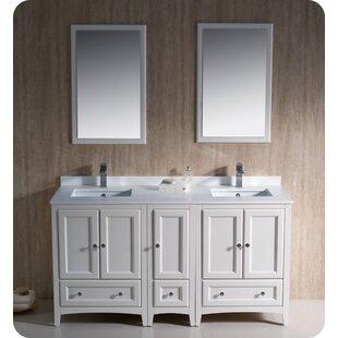 Oxford 60 Double Bathroom Vanity Set with Mirror By Fresca