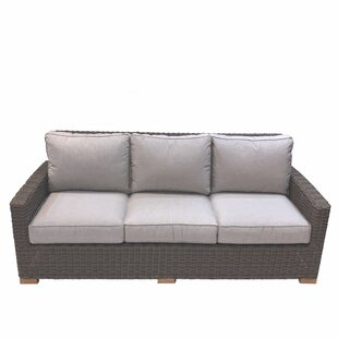 Baysinger Teak Patio Sofa with Cushions