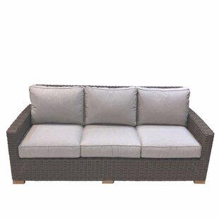 Baysinger Teak Patio Sofa with Cushions