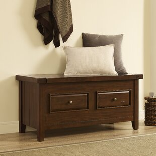 Sienna Wood Storage Bench by Loon Peak