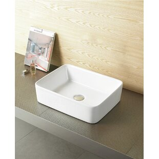 Best Reviews Ceramic Rectangular Vessel Bathroom Sink ByRoyal Purple Bath Kitchen