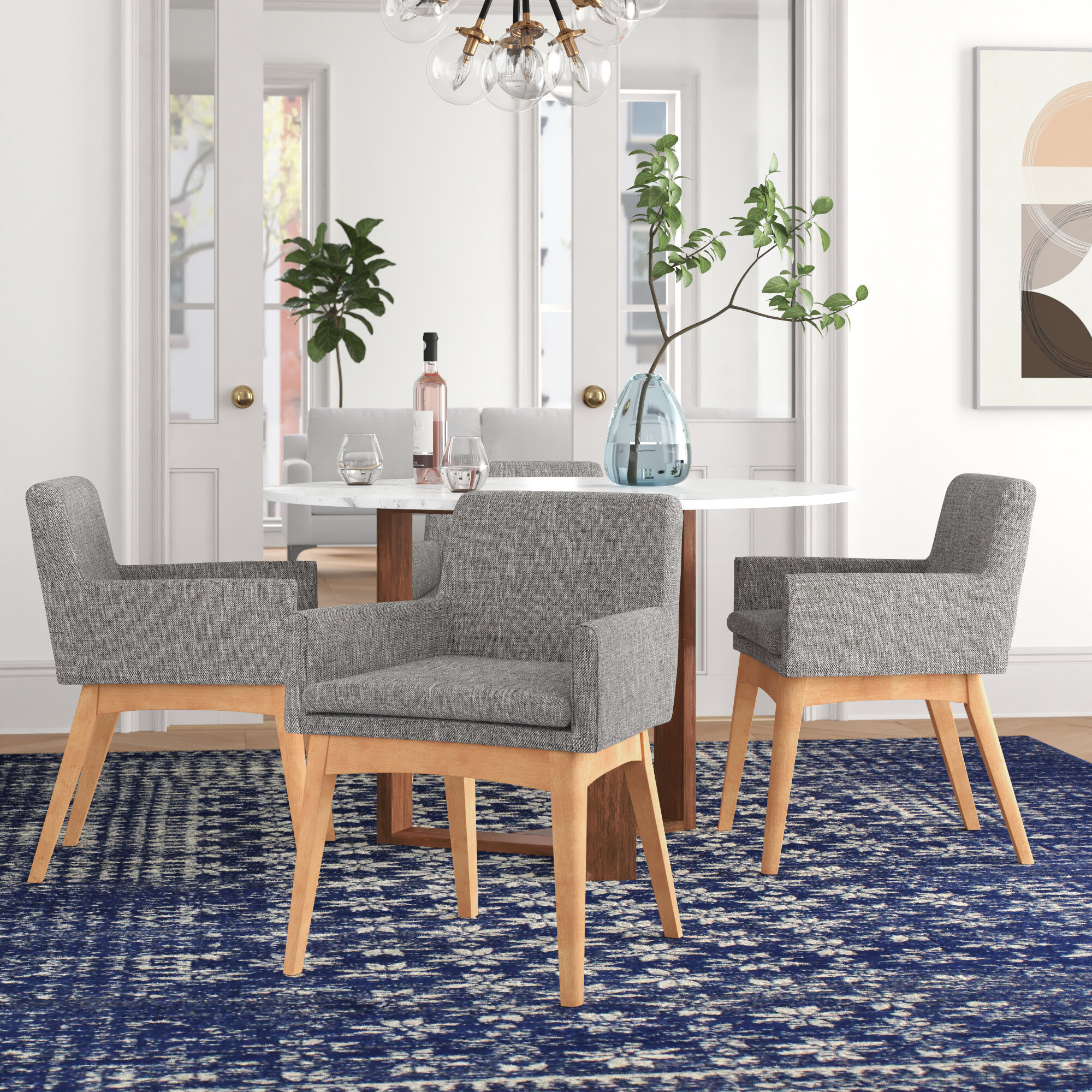 Upholstered Foundstone Kitchen Dining Chairs You Ll Love In 2021 Wayfair