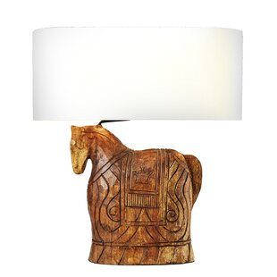 Read Reviews Armory Horse 23 Table Lamp By World Menagerie