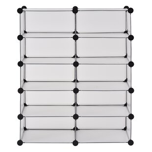 Purchase Modular Cube Storage 20 Pair Stackable Shoe Rack By Rebrilliant