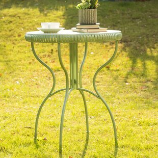 Outdoor Folding Metal/Iron Bistro Table by Glitzhome Find