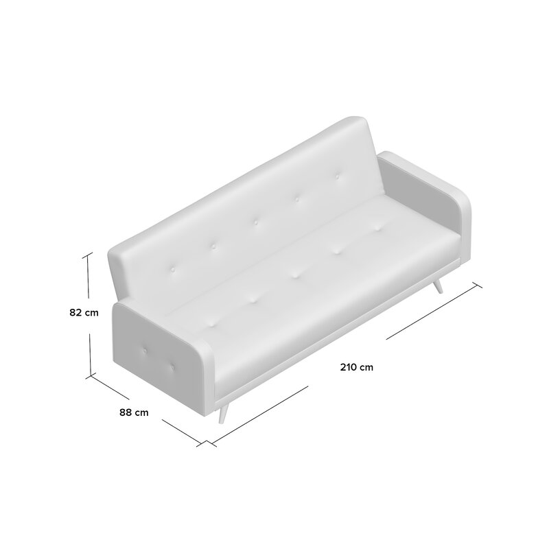 Hendricks 3 Seater Clic Clac Sofa Bed