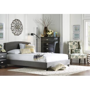 Tipler Queen Upholstered Platform Bed by Charlton Home New
