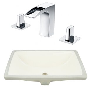 Compare & Buy CSA Ceramic Rectangular Undermount Bathroom Sink with Faucet and Overflow By Royal Purple Bath Kitchen