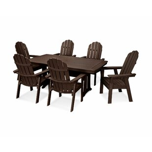 Vineyard Adirondack Nautical Trestle 7 Piece Dining Set POLYWOOD®