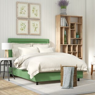 Sandy Border Linen Upholstered Panel Bed by Laurel Foundry Modern Farmhouse