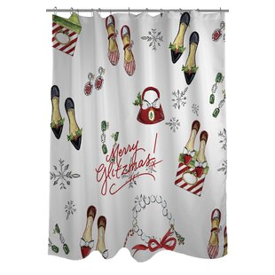 Merry Glitzmas Single Shower Curtain
