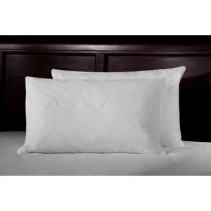 Thread Count Quilted Lumbar Feathers Jumbo Pillow (Set of 2) by WellRest